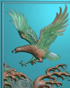老鹰浮雕牌子图片