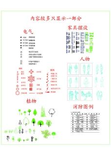 CAD(电器 绿化)图例图片