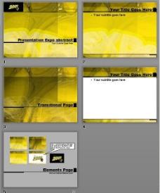 黄色数字光影黄色背景PPT模板