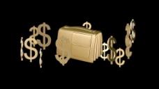 钱钱钱和运动背景 视频免费下载