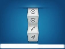 折纸效果的按钮图片