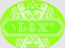 绿色花边圆图片