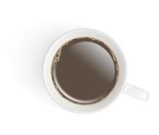 黑白咖啡杯