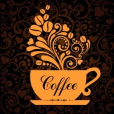 创意咖啡花纹
