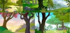 森林风景矢量素材