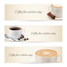 精美咖啡banner矢量素材