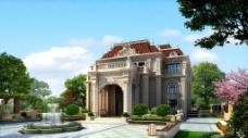 别墅建筑景观设计效果图图片
