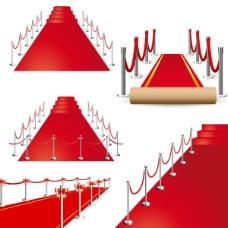 精美的红色的地毯向量