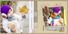 秋季儿童相册