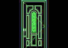 单扇门CAD图块素材96