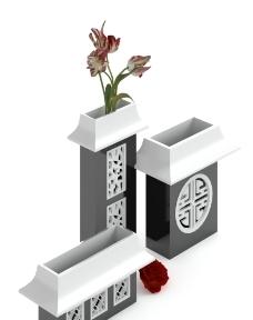 3D中式特色花瓶摆设模型