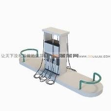 3D加油站模型