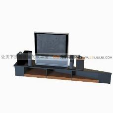 3D电视机模型