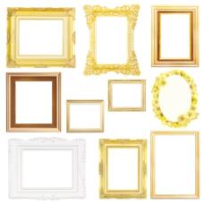 套老式黄金相框