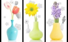 花瓶无框画
