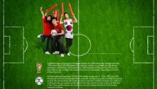 世界杯球迷庆祝PSD素材